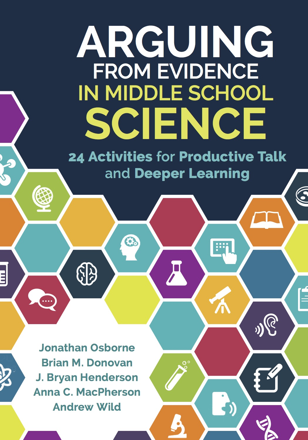 Science School Book Cover : Book arguing from evidence in middle school science